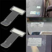 2PCS/Pack Plastic Car Vehicle Accessory Parking Ticket Permit Card Holder Clip Sticker