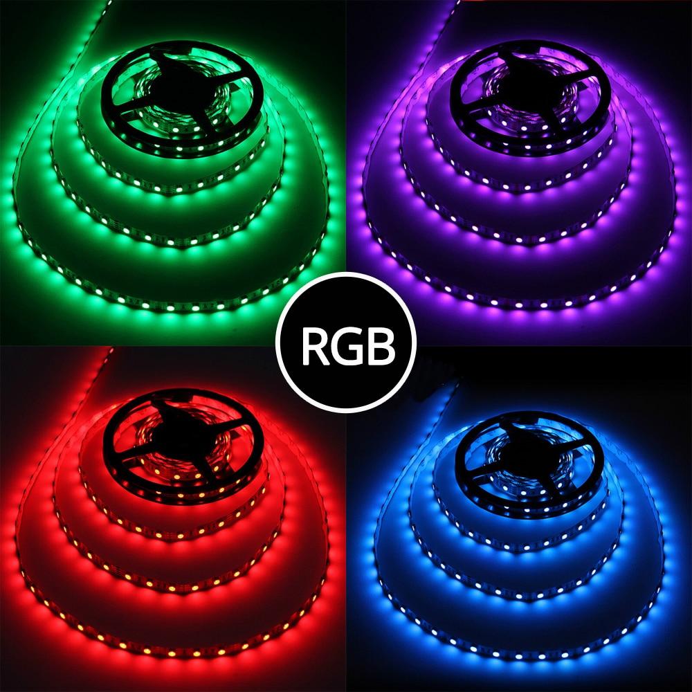 5M 300LED 5050 SMD Fleksibel yang diketuai jalur RGB Putih Merah Hijau Biru Kuning Tanpa cahaya kalis air Parti buku Cahaya malam Mentol Lampu Meja
