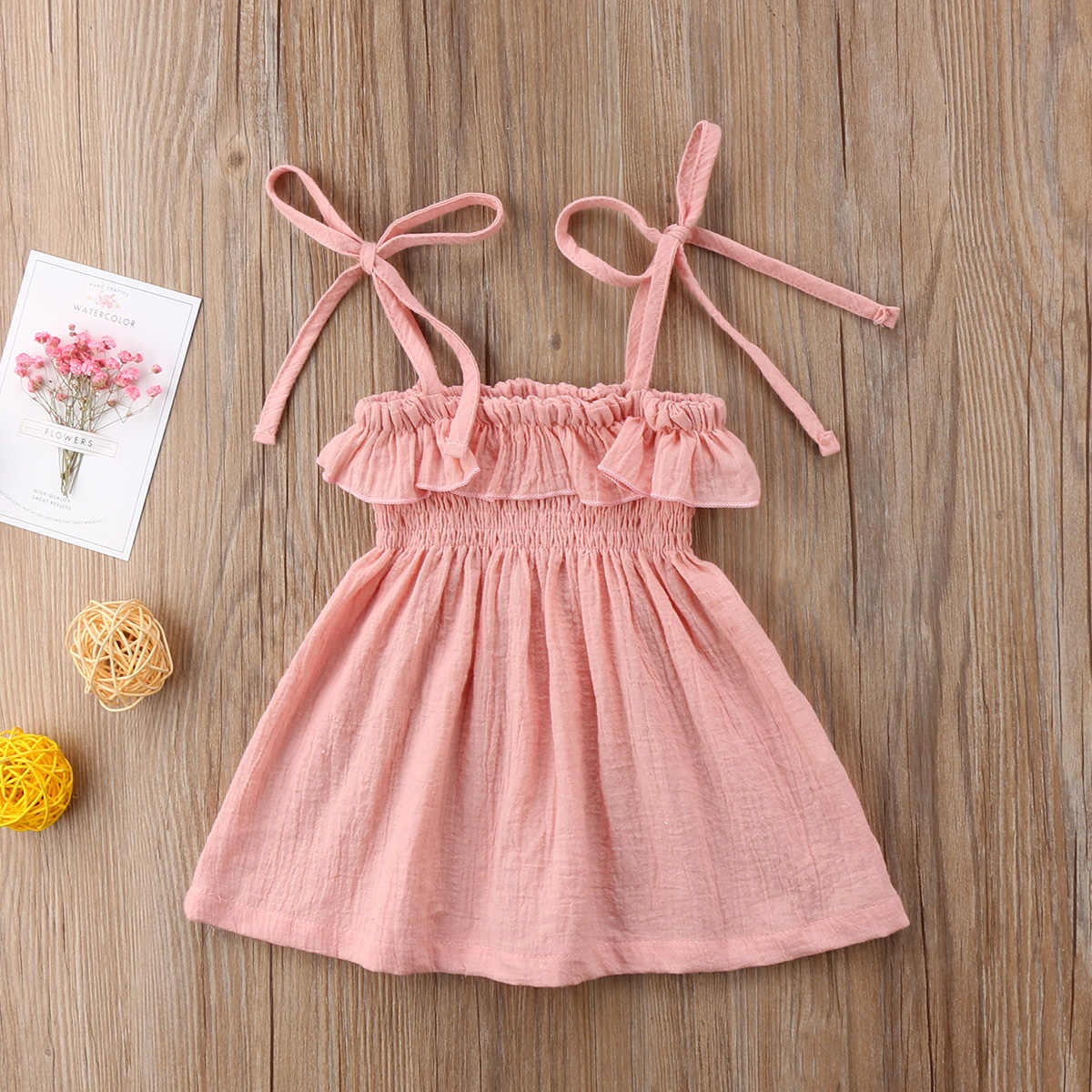 8d788e7f6c ... Toddler Infant Kids Baby Girls Summer Bathing Suit Bikini Beach Cover  Ups Dress Princess Party Wedding ...