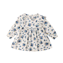 Flower Infant Newborn Baby Girls Dress Long Sleeve Ruffles Party Holiday Dress For Baby Girl  Spring Baby Girl Clothing