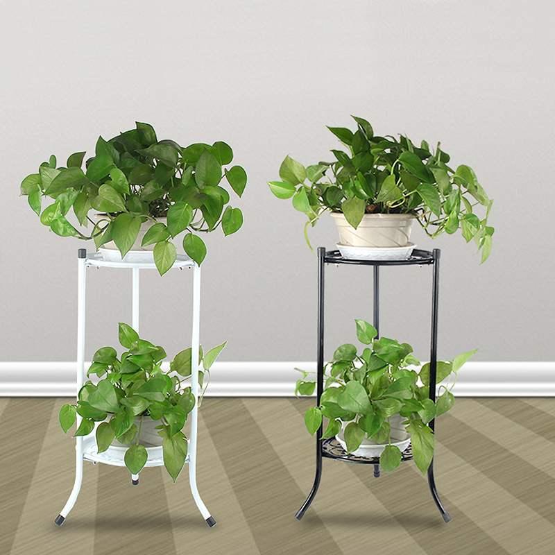 White Wooden Plant Stand Home Indoor Outdoor Patio Garden Pillar Flower Display