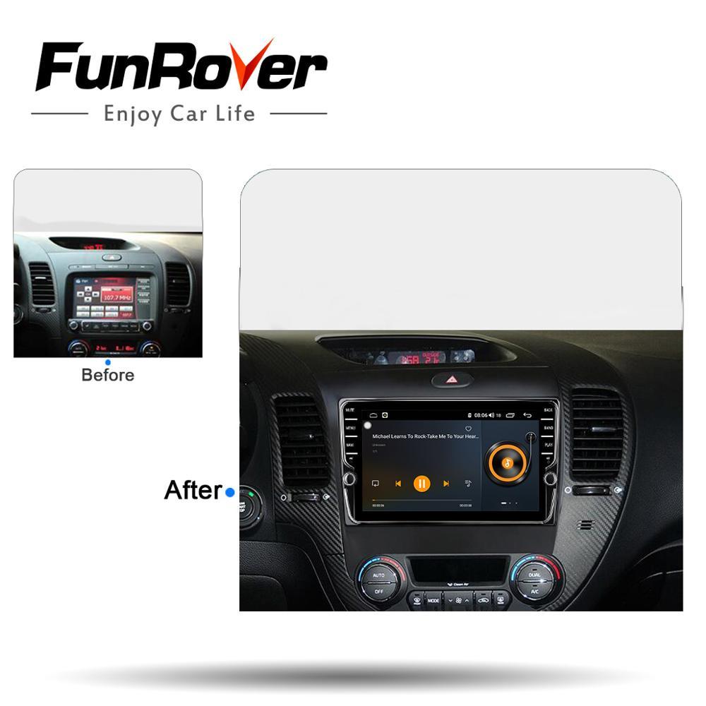 Funrover Octa 8 Core autoradio Multimédia Android8.1 Pour Kia K3 Cerato Forte 2012-2016 de navigation de gps de voiture Bluetooth 4 GSIM Pas de dvd - 5