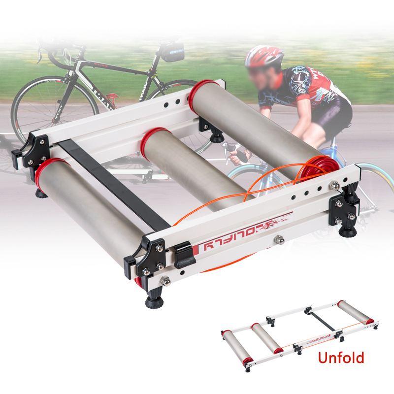 Durable Fitness ciclismo plegable bicicleta parabólica rodillo entrenador ciclismo interior Estación de entrenamiento carretera bicicleta Estación de ejercicio