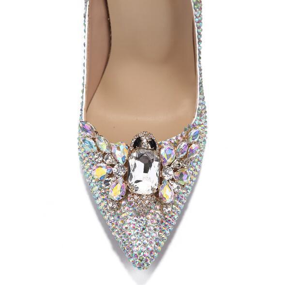 Mariage Bout Diamant Hauts Chaussures Talons Strass De Robe Mariée Pointu À Femme Cristal Spectacle Papillon q1ggxYUZ