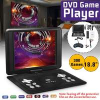 18.8 Inch Portable DVD Player TV Portatil VCD CD MP3 Home Car USB SD Cards RCA TV Cable Game DVD Player w/Battery16:9 LCD Screen