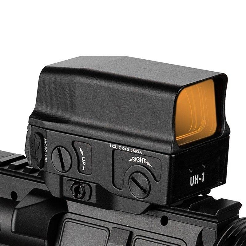 AMG-3 UH-1 Nova Óptica Holográfica Red Dot Sight w/Frete de Carga MicroUSB Vista 10 Níveis de Brilho Ajustável Retículo Vermelho