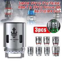 3Pcs Replacement V12 Prince Q4 Quadruple Coils Head 0.4ohm For SMOK Atomizer Tank Vape 40-100W/BEST 60-80W Deep and Rich-Vapor(China)
