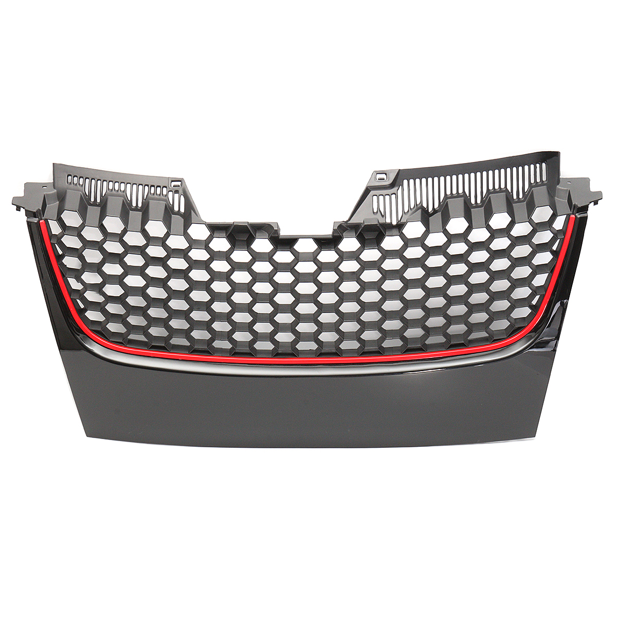 Car Front Bumper Grill Grille Red Strip for Volkswagen for VW Mk5 Golf Jetta Gti Gt Sport 2006-2018Car Front Bumper Grill Grille Red Strip for Volkswagen for VW Mk5 Golf Jetta Gti Gt Sport 2006-2018