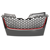 Car Front Bumper Grill Grille Red Strip for Volkswagen for VW Mk5 Golf Jetta Gti Gt Sport 2006 2018