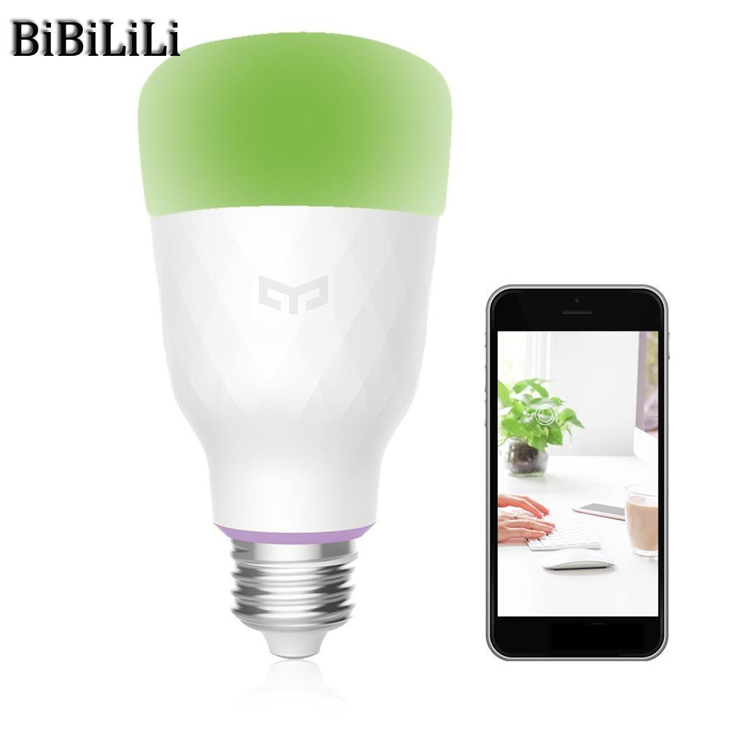 Offre spéciale! Xiao mi Yeelight RGB LED ampoule intelligente couleur E27/E26 ampoule commande vocale mi ampoules intelligentes téléphone télécommande - 3