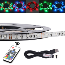 3528 RGB 5v usb color changing strip 50CM 1M 2M 3M 4M 5M Christmas decorate for tv pc Background lighting with remote controller