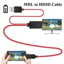 MHL to HDMI Adapter Micro USB to HDMI 1080P HD TV Cable Adapter for Android Samsung Phone it is 11pin Micro USB por r15(China)