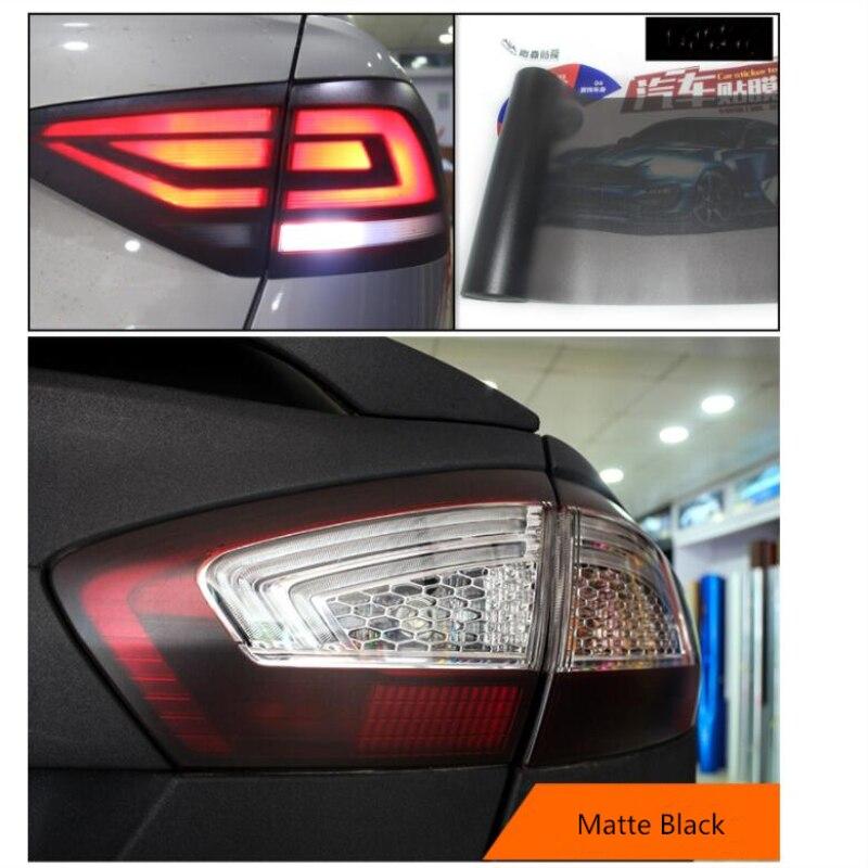 30*180 ซม.Matt ควันฟิล์มรถยนต์สีดำ Tint ไฟหน้าไฟท้ายไฟหน้าหมอกไวนิลฟิล์มด้านหลังย้อมสีฟิล์ม