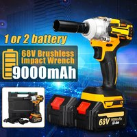 68V 9000mAh 520N.m Cordless Lithium Ion battery Electric Impact Wrench Cordless Brushless with Rechargeable Battery AC 100 240V