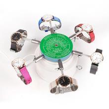 110/220V שעון תיקון כלים 6 זרועות אוטומטי שעון המותח Cyclotest שעון המותח עבור שען שעון בדיקת Tester כלים