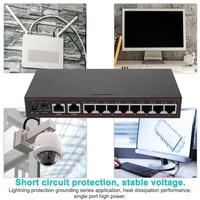 220V 10 Port SPOE VLAN Injector Power POE Ethernet Switch with 250M Transmission Distance