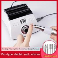 Portable nail polishing pen type nail polisher Electric manicure nail remover nail polisher ( color box )