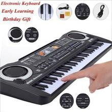 61 teclas preto música digital teclado eletrônico placa chave piano elétrico crianças presente instrumento musical