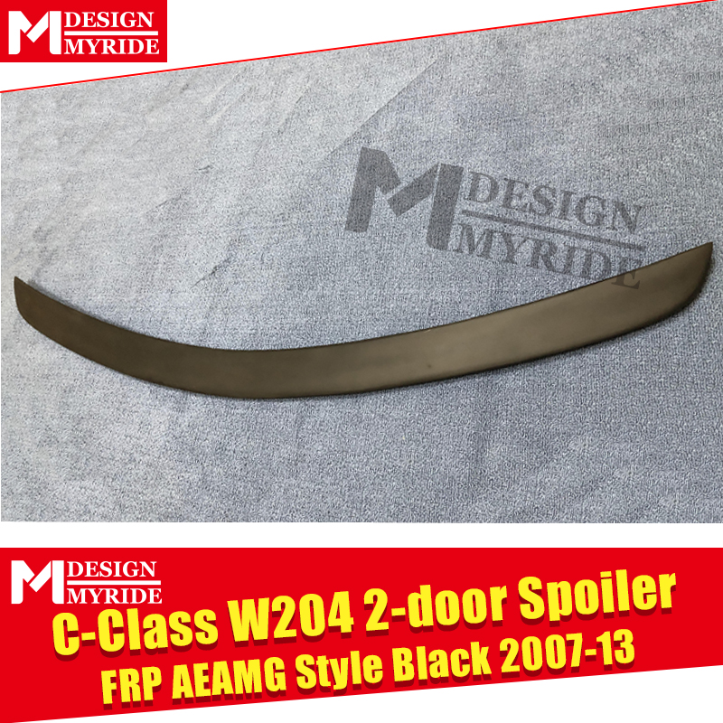 W204 AEAMG style Spoiler FRP Primer black For C Class W204 2 doors C180 C200 C230 C250 C300 rear trunk Spoiler wing Lip 2007 13 in Spoilers Wings from Automobiles Motorcycles