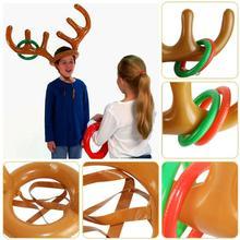 ПВХ надувные рога оголовье игрушки кольцо с головой животного метания круг Игрушки Инструменты для улицы смешные игры подарки Декор Аксессуары