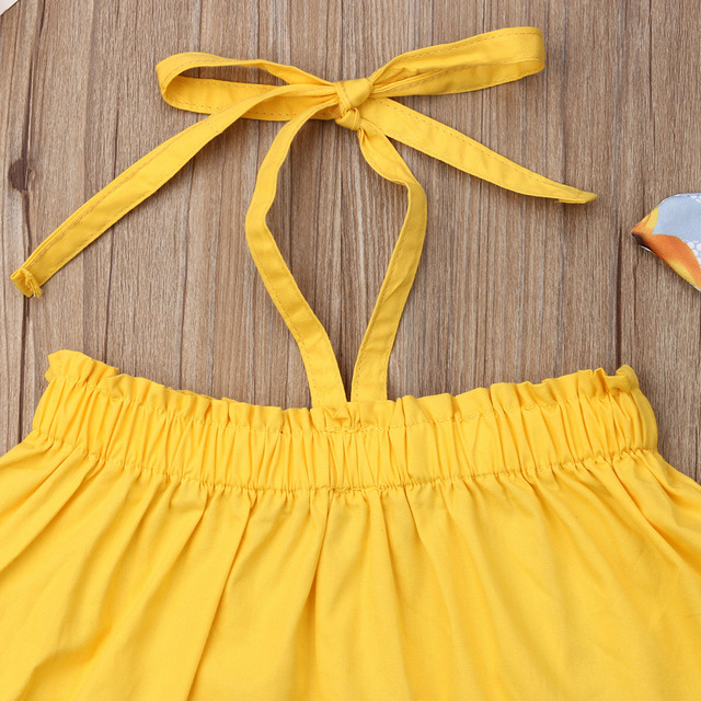 New Newborn Baby Girl T-shirt Tops Sunflower Shorts Pants Outfits Summer Clothes 3PCS Sets