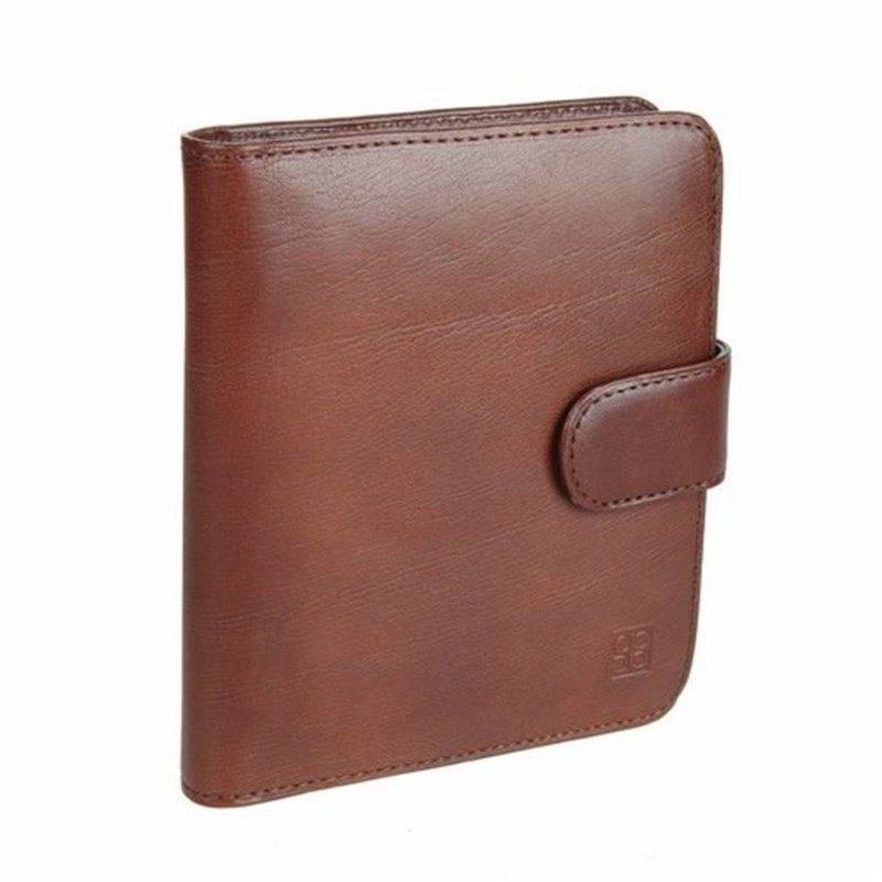 Business Card Holder Sergio Belotti 2612 Milano Brown large capacity card holder multifunctional wallet
