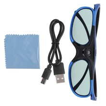 Universal Active Shutter Type 3D Glasses DLP Link 3D Projector 3D Glasses HD Lens(China)