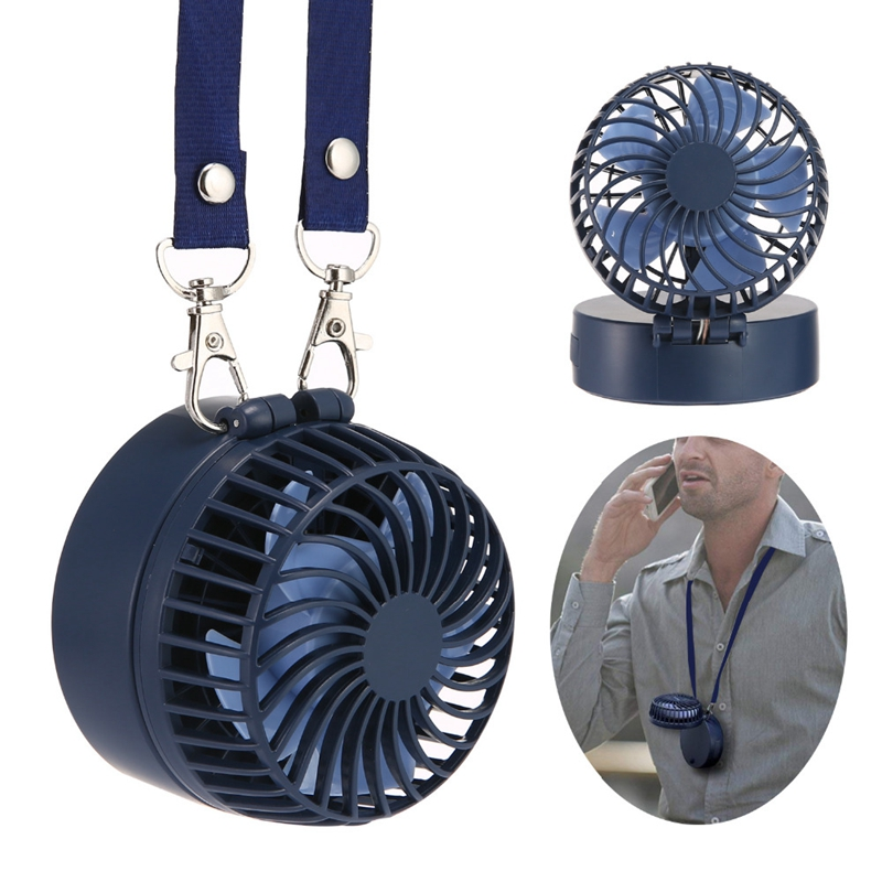 Portable Handheld Fan Mini Portable Outdoor Necklace Fan 3 Speeds 180 Degree Rotating Adjustment For Home Travel Mini Fan