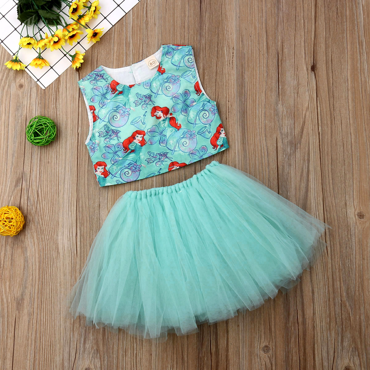 US Kids Baby Girl Dress Mesh Halter Birthday Party Prom Wedding Clothes Sunsuit