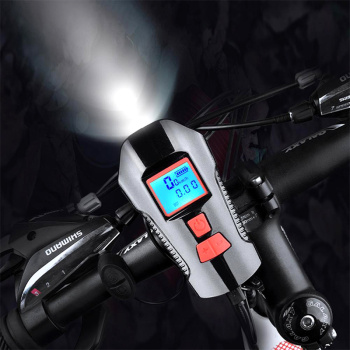 Waterproof Bicycle Front Light with USB Charging, Speed Meter and LCD Screen 9