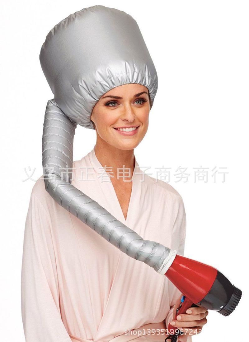 Bonnet de sèche-cheveux, accessoire professionnel, confortable, pour Salon de coiffure, maison, Portable, pour sèche-cheveux, couleur argent