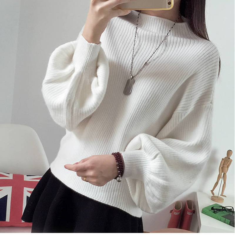 New Autumn Winter Women Pullovers Solid Color Casual O Neck Long Sleeve Sweater Female Loose Knitted Femme Tops 7 Colors