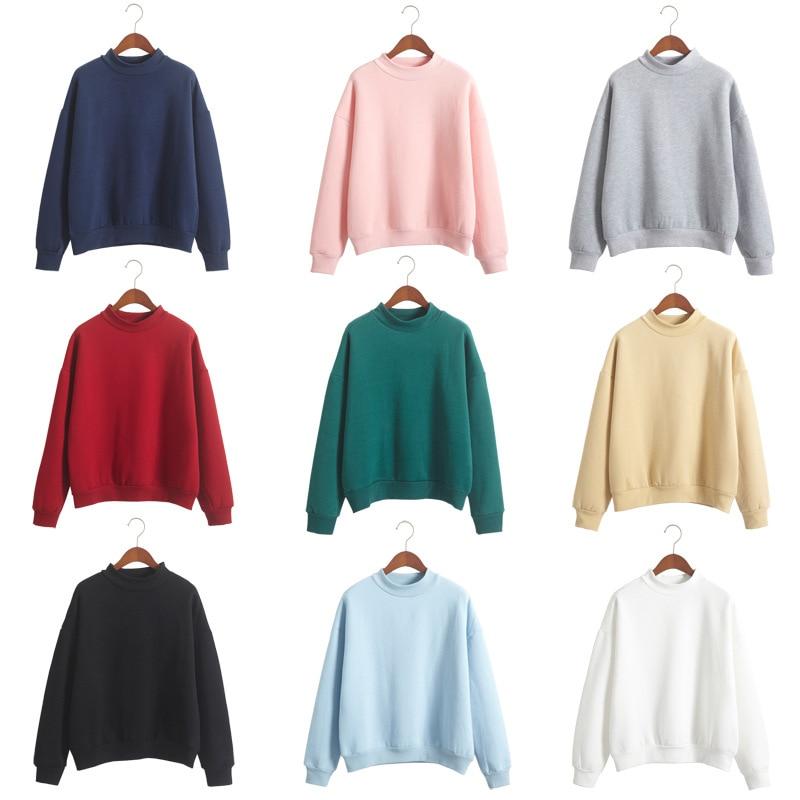 2018 Autumn And Winter Solid Velvet Women Sweatshirt Female Sweatshirt Womens Long Sleeve Hoodie Sweatshirt Jumper Hooded Pullov