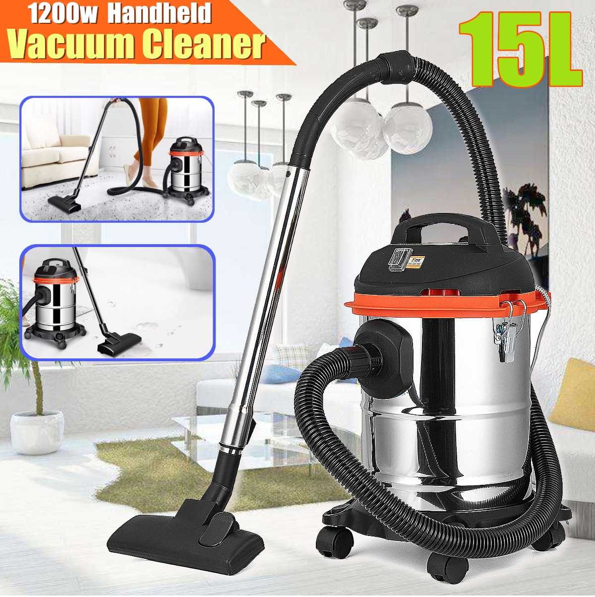 Stainless Steel Smart Canister Vacuum Cleaner Handheld Floor Dust Sweeping Cleaning Tools Home Wet Dry Cleaning Machine Cleaner