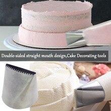 Boquilla para glaseado Extra grande de doble cara de acero inoxidable, boquillas para crema, herramientas de decoración de pasteles, punta de pastelería
