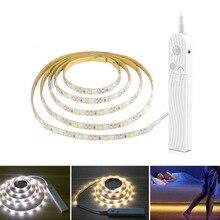 1m 2m 3m 5v Wireless Motion Sensor Usb Led Strip For Bed Cabinet Closet Wardrobe Stairs Sensor Lamp Emergency Night Light