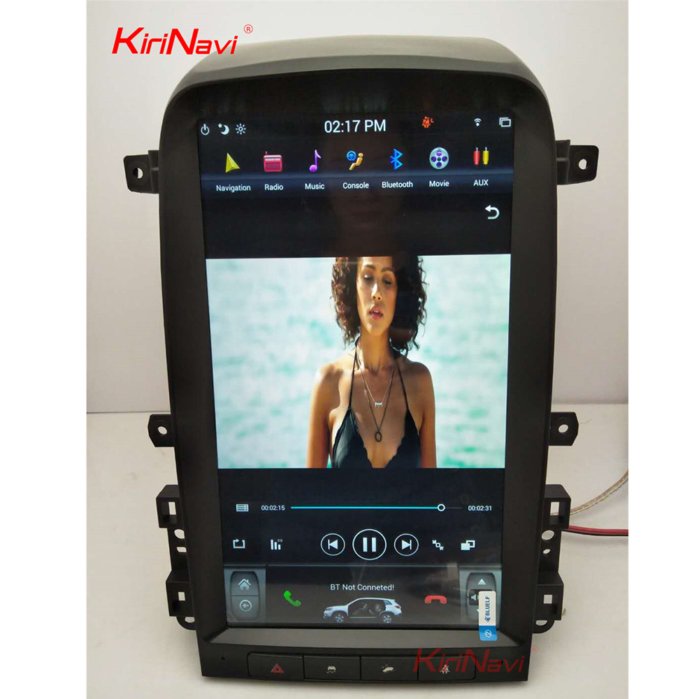 KiriNavi Vertical Screen Tesla Style 13.6 Inch Android 6.0 Car multimedia GPS Navigation Car Radio For Chevrolet Captiva 2008-12