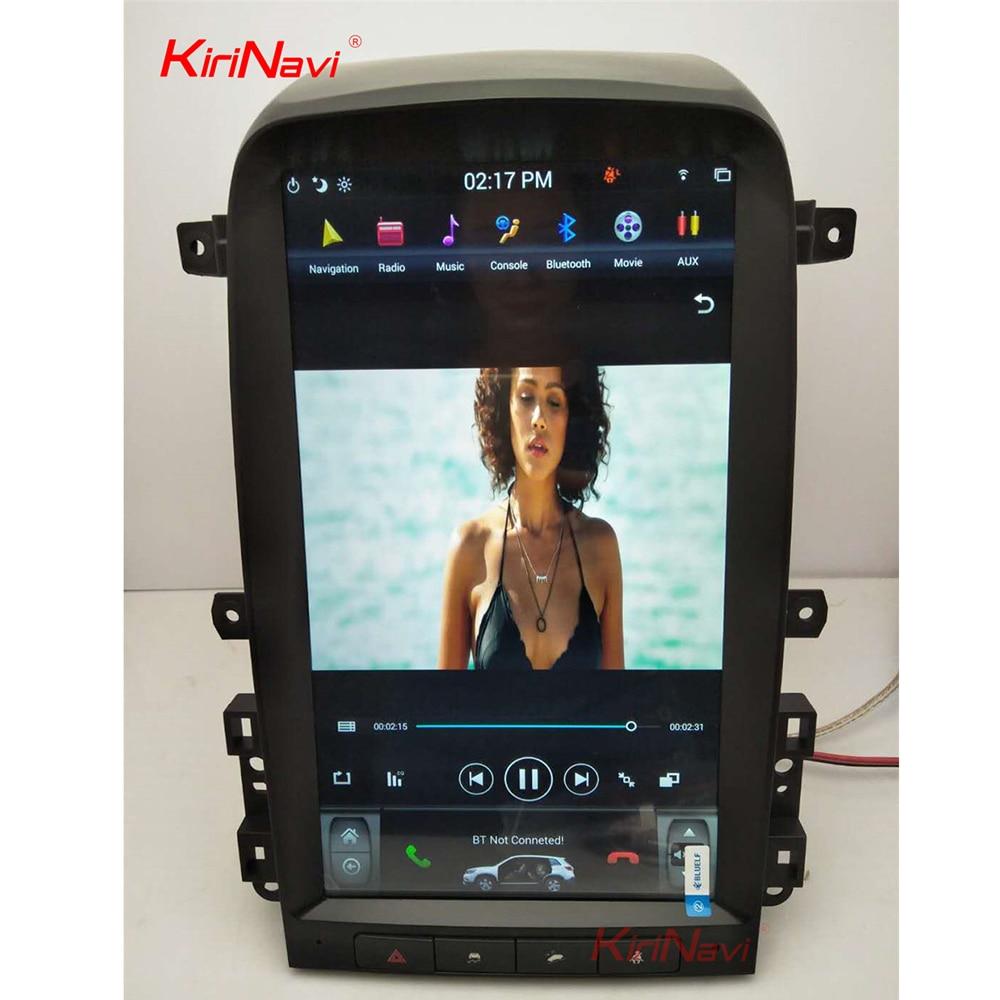 KiriNavi Vertical Screen Tesla Style 13.6 Inch Android 6.0 Car multimedia GPS Navigation Car Radio For Chevrolet Captiva 2008 12