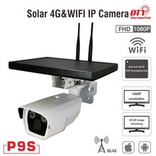 DTY 080P 6W outdoor waterproof cctv solar powered wireless ip camera with built-in battery misol ip observer solar powered wireless internet remote monitoring weather station