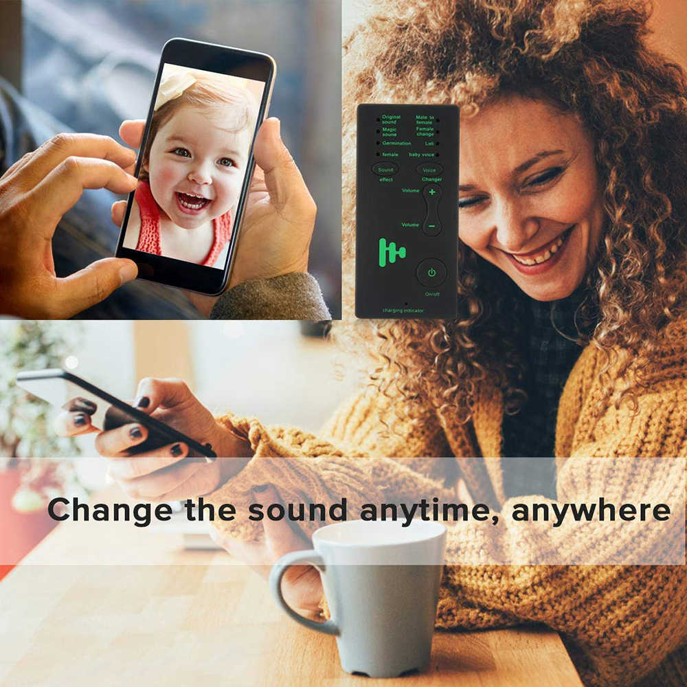 Dispositivo cambiador de voz para niños, XBOX, PS4, teléfono, IPad, ordenador, portátil, tabletas, 7 cambios de sonido diferentes para regalo para madre