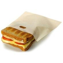 2 шт тефлоновая сумка для тостов многоразовая высокотемпературная антипригарная переносная сумка для приготовления пищи сумка для микроволновой печи для бутербродов для выпечки тостов