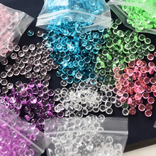 In Stock Clear Flat Bead Transparent Slime Accessories Toy DIY Handmade Slime Crystal Mud Particles Filling Decoration Toy