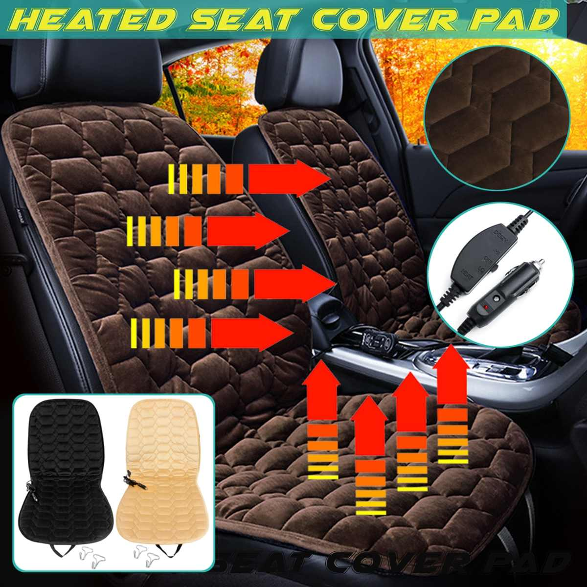 12V Plush Car Heated Seat Covers Cushion Seat Warmer Winter Household Cover Electric Heating Mat universal heating Heater 2017 brands new 12v electric car heated seat covers universal winter car seat cushion heating pads keep warm single cushions