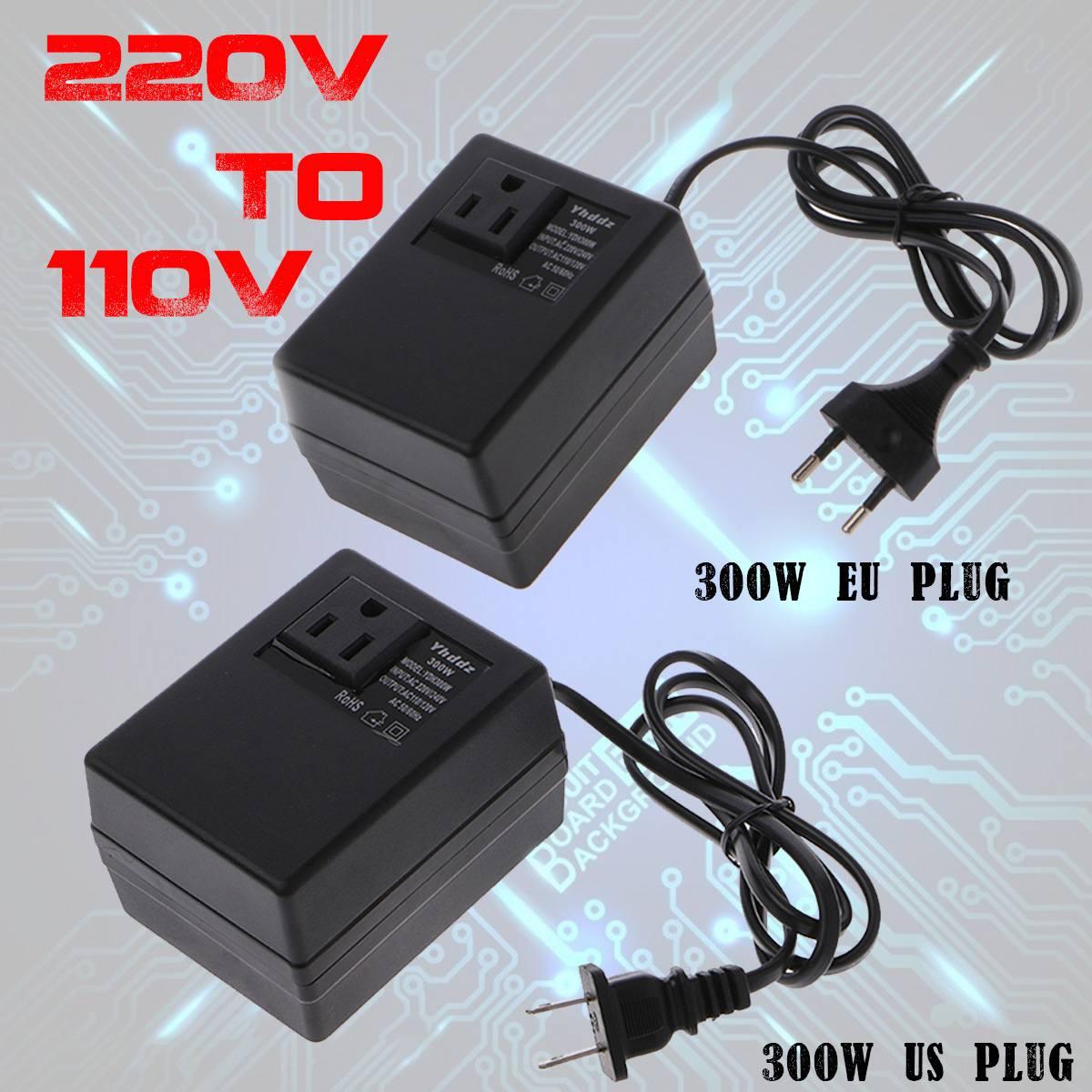 Transformateur de convertisseur de tension 300 W abaisseur 220 V à 110 V AC convertisseur de transformateur de tension de voyage abaisseur