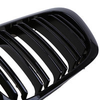 For 98 01 BMW E46 2 Door 2D Coupe Gloss Black Dual Slat Kidney Grille Grill 2pcs