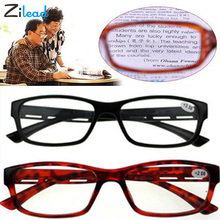 Zilead Fashion Unbreakable Reading Glasses Women Men Resin Simple Transparent Spectacles Vintage No MagnetPresbyopia
