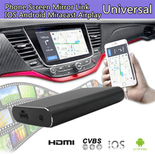 HD Phone Screen Mirror Link Car Display Dongle For IOS Android Miracast Airplay