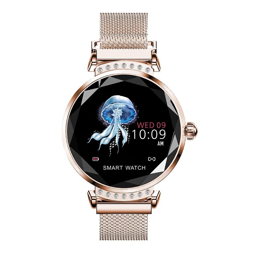 Montre intelligente H2 étanche femmes dames mode Smartwatch moniteur de fréquence cardiaque Tracker pour Android et IOS Smartphone