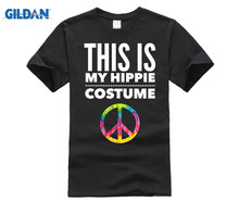 GILDAN Funny Halloween TShirt Costume This is my Hippie