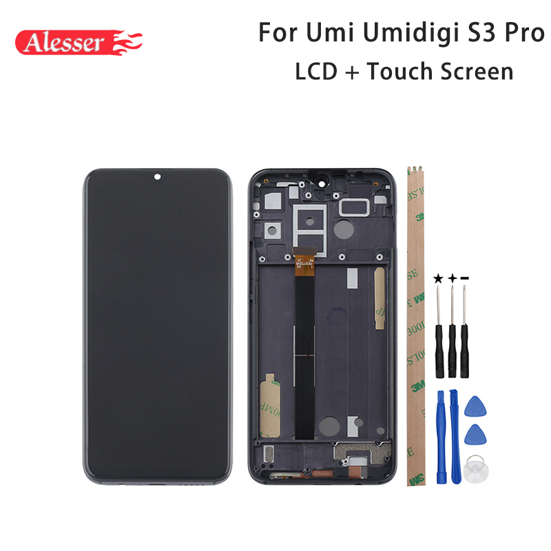 Alesser For UMI S3 PRO LCD Display Touch Screen With Frame Assembly Repair Tools Adhesive For